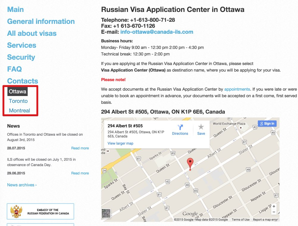 ILS Canada Russian Visa Center