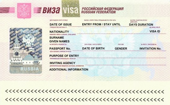 Visa to Russia Passport Traveler 2