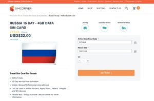 Buy Russian SIM Card online - Russia 15 Day - 4GB Data SIM Card