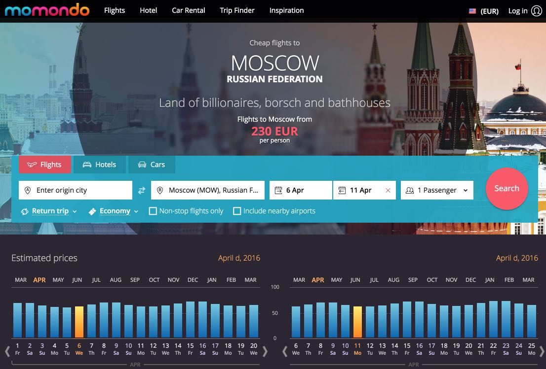 Flights to Moscow, Russian Federation - Compare Moscow flights – momondo