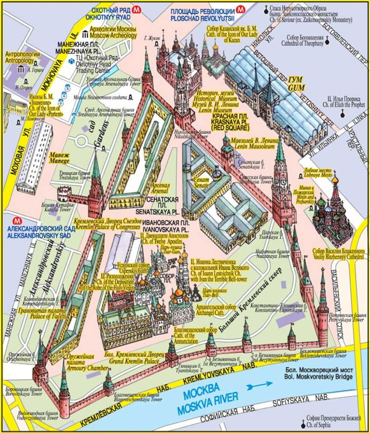 Red Square Moscow Map