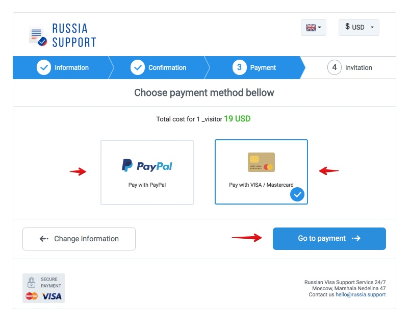 How to obtain a russian visa in an easy and cost effective way in 2018 letter of invitation to russia in 5 minutes for 19 usd russia support 3 altavistaventures Choice Image