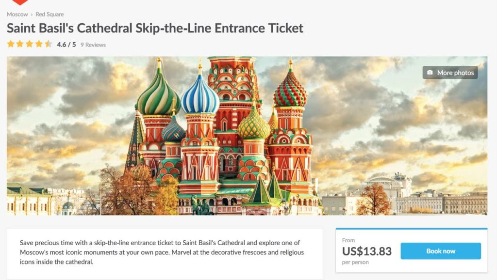 Saint Basils Cathedral Skip-the-Line Entrance Ticket