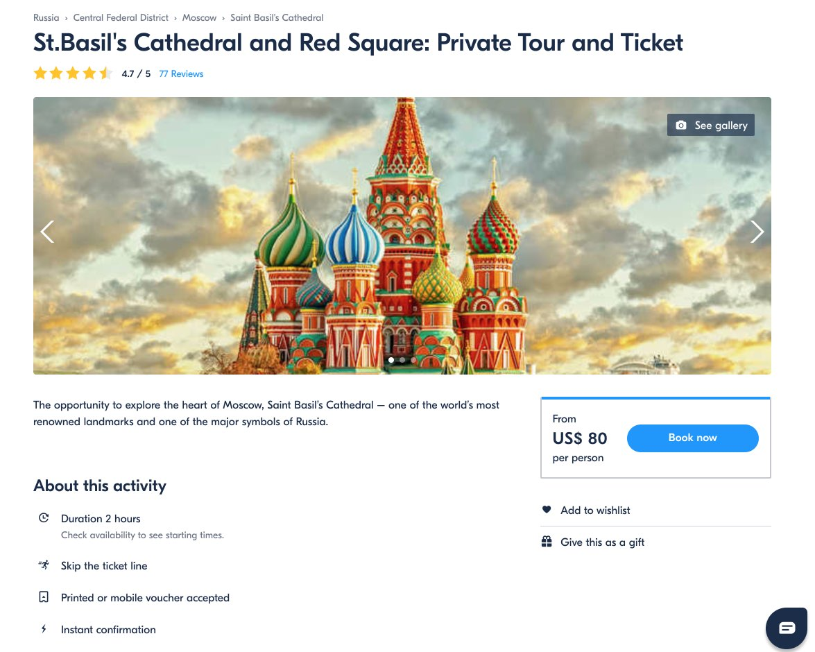 St.Basils Cathedral and Red Square - Private Tour and Ticket - Moscow