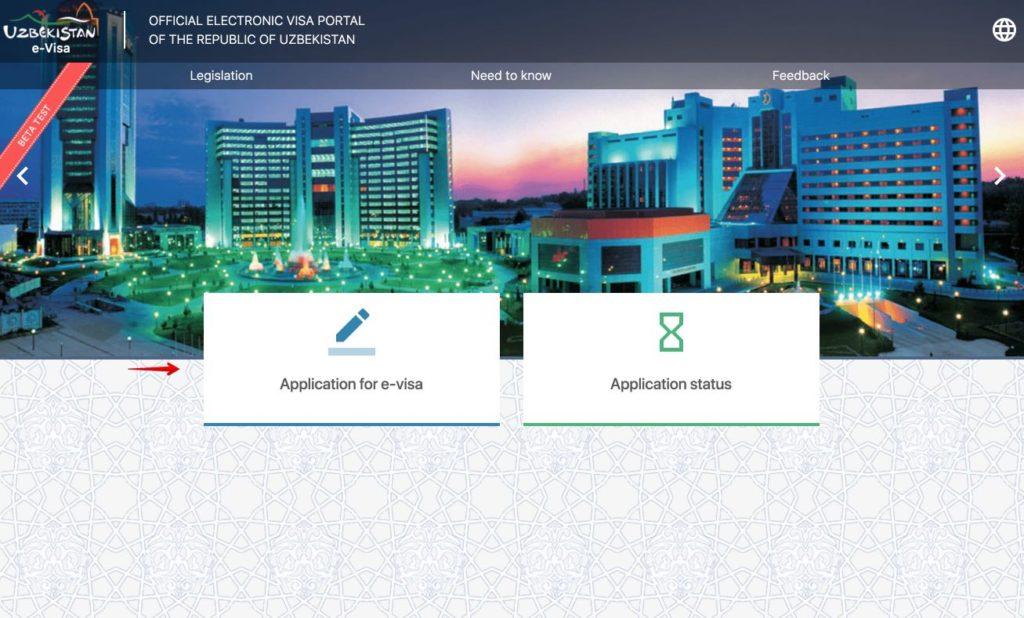 Apply for electronico visa to Uzbekistan