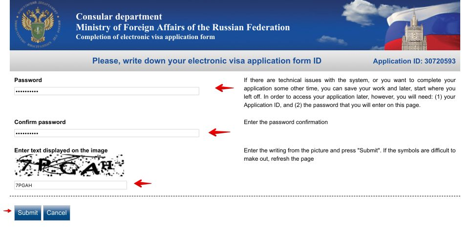 Fill out Russian Visa Application Form for Canadian citizens 2