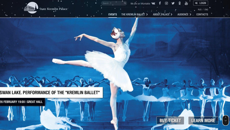 Palais national du Kremlin - Performance du lac des cygnes - Ballet du Kremlin