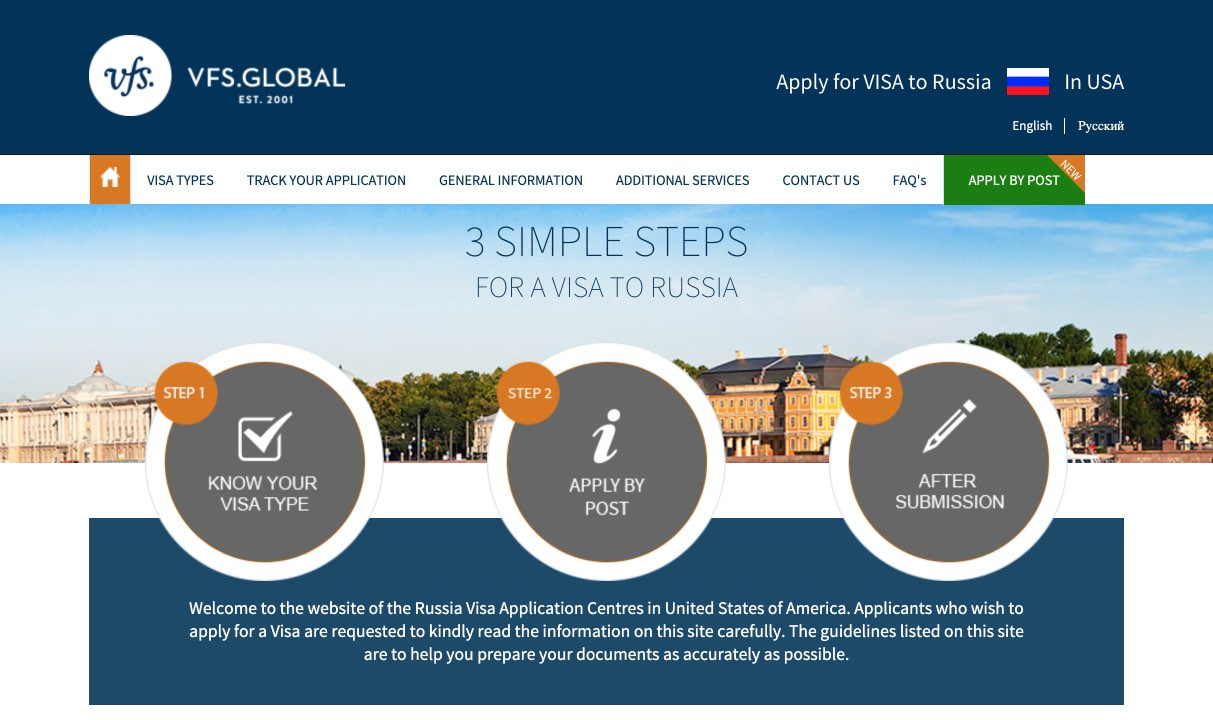 Russian Visa Center in USA - VFS Global